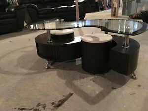 Glass Top Coffee Table with Stools Stratford Kitchener Area image 2