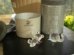 "Swarovski Crystal Figurines -"" Large Snail "" and "" Kris Bear "" Kitchener / Waterloo Kitchener Area image 1"