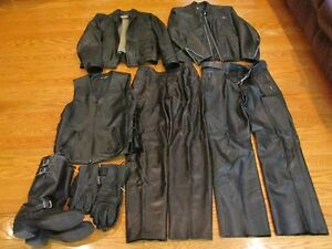 Motorcycle clothing, helmets, and tank bag