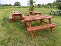 Picnic Bench 6 seater build to last 4x2 timber 5 foot