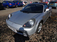 TOYOTA MR2 1.8 VVTi ROADSTER CONVERTIBLE~02/2002~MANUAL~STUNNING METALLIC SILVER