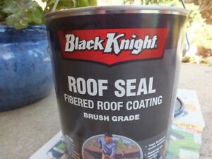 Fibered Roof Coating Roof Seal: Almost full 3.78L can
