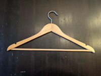 Box of 80 Wood Hangers - Excellent Condition