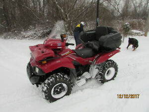 MINT KAWASAKI BRUTE FORCE 4X4,WITH A OVER $2000 PLOW