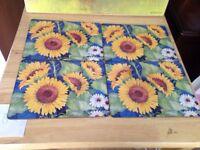 Set 6 sunflower placemats