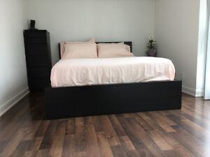 MALM - Bed Frame, 2 & 6-drawer chest, Serta Queen Mattress