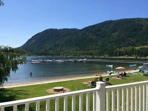 Mara Lake Beach Front Condo in White Pines, Sicamous BC