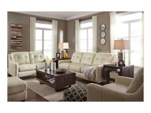 FLOOR MODEL CLEARANCE: Ashley O' Kean Sofa and Loveseat Set
