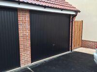 BRAND NEW Novoferm Garage Door Black Metal 2490mm Wide X 2115mm Tall