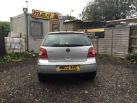 2002 Volkswagon Polo, 1.2s manual in silver with Alloy wheels