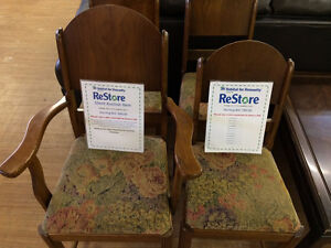 HFH ReStore EAST -	Silent auction four vintage padded chairs