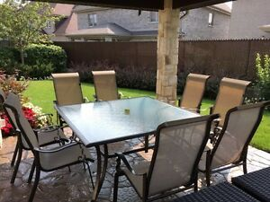 Patio with 8 chairs