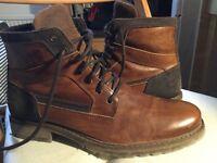 Men's leather boots UK 9 EU 43