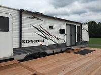 2014 Kingsport Trailier with Deck, Shed and BBQ for sale