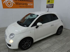 2014,Fiat 500 1.2 69bhp Sport***BUY FOR ONLY £33 PER WEEK***
