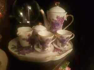 Ceramic Adaline miniature tea set