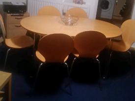Lovely Table and Six Chairs