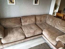 Harveys large brown corner sofa