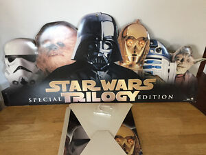Star wars trilogy cardboard display(affiches promos)