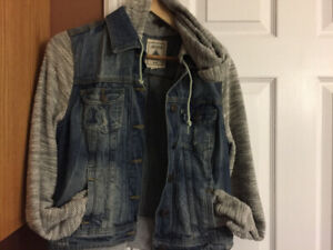 Youth Jean Jacket with hood youth M