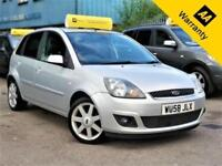 2008 FORD FIESTA 1.4 ZETEC CLIMATE 16V 80 BHP+P/X WELCOME+NEW CLUTCH+AUX+AIR-CON