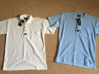 2x mens tops, size medium - new with tags. £5 for them both