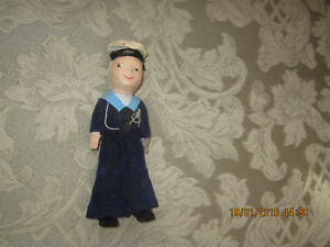 USED, cloth Delphi sailor doll