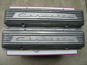 Rare set of 7 finned Corvette valve covers, staggered hole