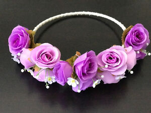 Handmade floral head bands made in Thailand