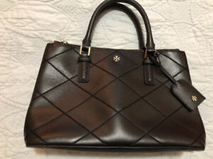 """Tory Burch Robinson stitched double zipped tote. """"Authentic."""""""