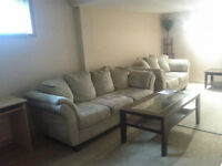 FURNISHED BASEMENT AVAILABLE IMMEDIATELY     $900
