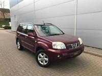 2004 04 reg Nissan X-Trail 2.5i SVE auto + LEATHER + 4WD + AUTOMATIC
