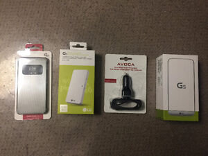 LG G5 Brand New 32GB Unlocked&Car Charger,Cover Case,Battery Kit