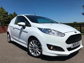 2014 Ford Fiesta 1.6 TDCi Sport van 95bhp 1 Co Owner FSH 57th miles White