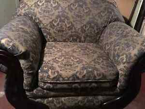 Vintage damask chair