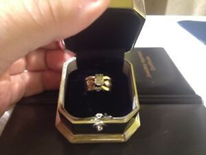 14 Karat Yellow/White Gold Wedding Ring