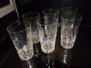 Ensemble de 4 verres à eau cristal pinwheel (061)