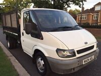 2004 FORD TRANSIT 350 MWB TD TIPPER 2.4 # 1 YEARS MOT # CD PLAYER # NEW TYRES ALL ROUND