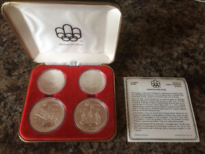 CANADA 1976 OLYMPIC GAMES 4 COIN SILVER PROOF 1974 SET SERIES 3
