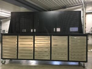 NEW HD 20 Drawer Toolbox / Storage Cabinet & Work Bench