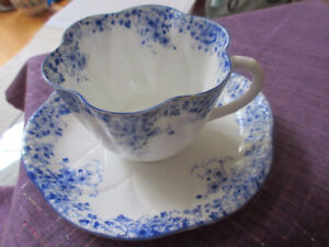 Shelley Dainty Blue Pattern - Cup and Saucer     Gorgeous