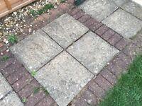 Patio slabs and bricks
