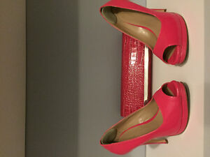 Le Chateau Heels and Clutch