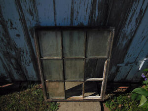 Antique Wooden Pine Window Frame, (photos or mirrors?)