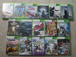 16 games for X BOX 360