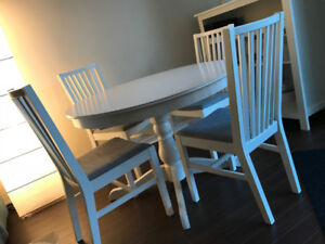 Dining Table Set - IKEA, INGATORP, Extendable table