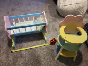 Toy Crib and Chair
