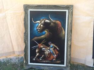 Mexican  Black  Velvet  Painting