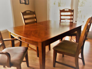 Heavy Wooden Dining Table and 6 chairs