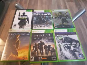 Jeux pour Xbox 360, Xbox one et game cube 5$/chaque